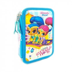 43-pieces Shimmer and Shine Triple School Set 3D Pencil Case