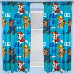 Paw Patrol Catch Character Ready Made Curtains 168cm x 183cm