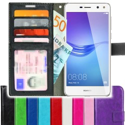 TOPPEN SLIM Huawei Y6 2017/Y5 2017 Wallet Case ID pocket, 4pcs Cards