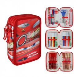 43-pieces Cars Lightning McQueen Triple School Set 3D Pencil Case