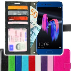 TOPPEN SLIM Huawei Honor 9 Wallet Case ID pocket, 4pcs Cards