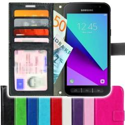 TOPPEN SLIM Samsung Galaxy Xcover 4 Wallet Case ID pocket, 4pcs Cards