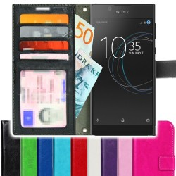 TOPPEN SLIM Sony Xperia L1 Wallet Case ID pocket, 4pcs Cards