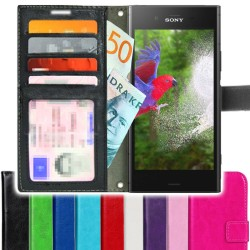 TOPPEN SLIM Sony Xperia XZ Premium Wallet Case ID pocket, 4pcs Cards