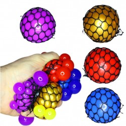 4-pakkes klemme Brain Ball Stress Ball Clamp Anti Stress 5cm
