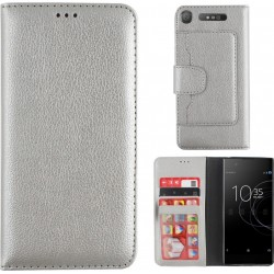 Colorfone Wallet Case for Sony Xperia XZ1 SILVER