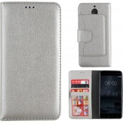Colorfone Wallet Case for Nokia 5 SILVER