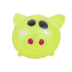 Sticky Pig Splat Ball Squeeze Toy Slime Stress Fun Prank YELLOW