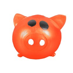 Sticky Pig Splat Ball Squeeze Toy Slime Stress Fun Prank ORANGE