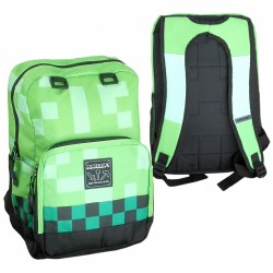 Minecraft Creeper Backpack School Bag 44x31x14cm