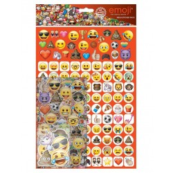 Emoji® Mega Stickers Pack 150pcs Fun Foiled Re-usable