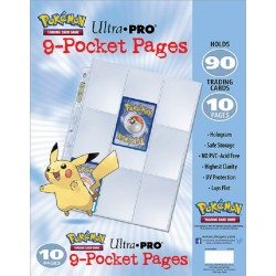 Ultra Pro Pokemon 9 Pocket Collector's Pocket Transparent 10-pakke