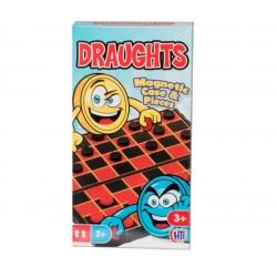 Traditional Compact Mini Travel Games Draughts Magnetic