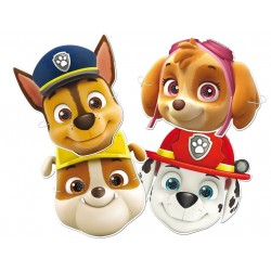 Paw Patrol 6pcs Masks Chase, Marshall, Skye and Rubble