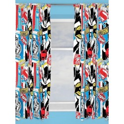 Batman & Superman Character Ready Made Curtains 168cm x 137cm