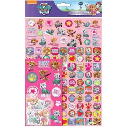 Paw Patrol Mega Stickers Pack 150pcs Fun Foiled Re-usable Pink