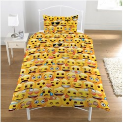 Emoji Bed Linen Single Duvet Cover Set 137x198 + 50x75 cm