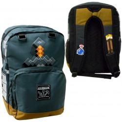 Minecraft Sword Adventure Backpack School Bag 44x31x14 cm Grey