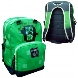 Minecraft Backpack School Bag 44x31x14 cm Green