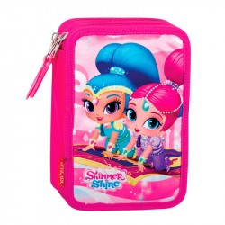 45-pieces Shimmer and Shine Penaaleita Triple School Set Pencil Case