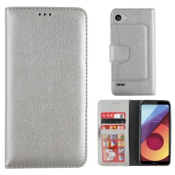 Colorfone Wallet Case for LG Q6 SILVER