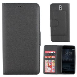 Colorfone Wallet Case for Nokia 8 BLACK