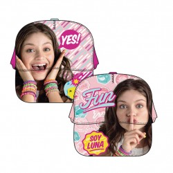 Disney Soy Luna Yes Cap One Size Hot Pink