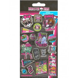 Monster High Stickers Pack Glitter Fun Foiled Re-usable