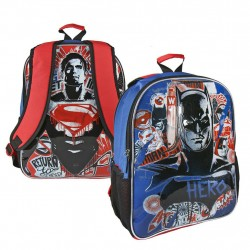 Vändbar 2i1 Ryggsäck Batman V Superman Skolväska 41x31x13 cm Reversible Backpack Batman/Super DC Comics 399,00 kr product_red...