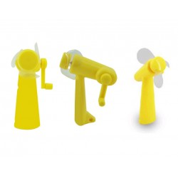 Wind Up Handy Fan Sun Vacation Cooling YELLOW