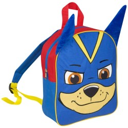 Paw Patrol Chase Junior Plush Front Backpack 31x25x12 cm Blue