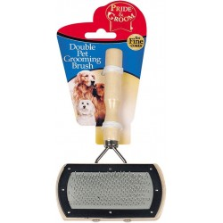Soft Dog & Cat Brush Double Sided Wooden Grooming Brush 16 x 10cm