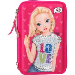 TOPModel Sequins Candy 44-pieces Penaaleita Triple School Set Pencil Case