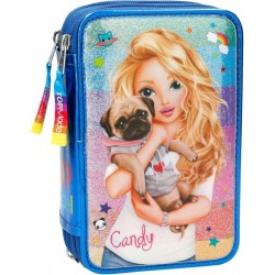 TOPModel Candy 44-pieces Triple School Set Pencil Case Blue