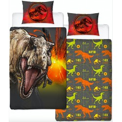 Jurassic World T-Rex Bed Linen Single Duvet Cover Set 135x200 + 50x75cm
