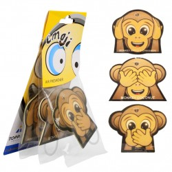Car Air Freshener Emoticon Monkey Car Scent 3-Pack