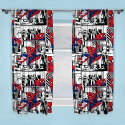 Spiderman Metropolis Character Ready Made Curtains 168cm x 183cm