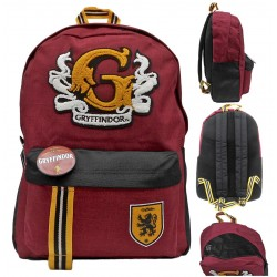 Harry Potter Gryffindor With Patch Backpack School Bag 44x31x14 cm