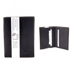 Real Leather Wallet RFID Proof Protection Card Holder Black