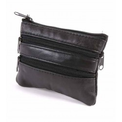 Real Leather Black Sheep Nappa Purse For Keys And Coins