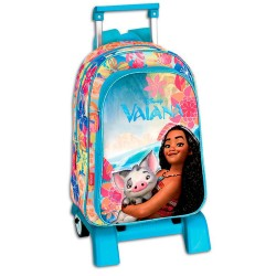 2in1 Vaiana Moana Backpack & Trolley Bag Matkalaukku 42x32x14cm
