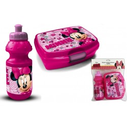 Disney Minnie Mouse Lunch Box And Bottle Pink