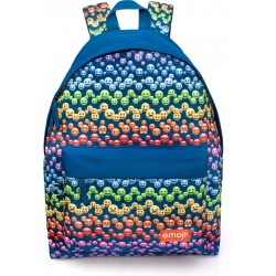 Emoji Rainbow Backpack School Bag 43x33x13 cm