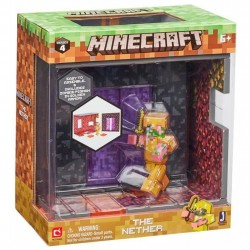 Minecraft The Nether Biome Playset Action Figure Set Series 4