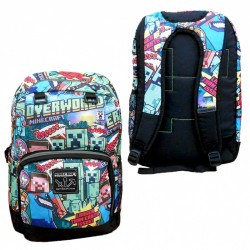 Minecraft Steve Overworld Backpack School Bag 44x30x15 cm
