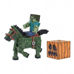 Minecraft Zombie With Zombie Horse Action Figure Set Series 4
