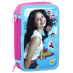 Disney Soy Luna Triple School Set 36-pieces Filled Pencil Case