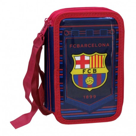 Barcelona Pencil Case Triple Compartment Stationery Bag Corporate OFFICIAL F.C