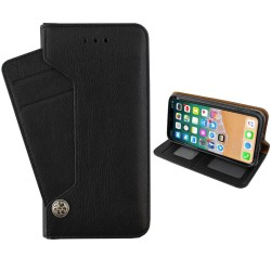 Colorfone Wallet Deluxe Taske til iPhone X / Xs Wallet Case BLACK