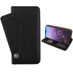 Colorfone Wallet Deluxe Case Huawei P20 Lite BLACK
